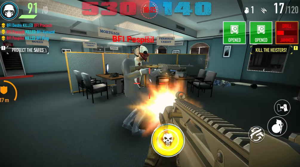 payday crime war中文版收获日犯罪战争游戏截图