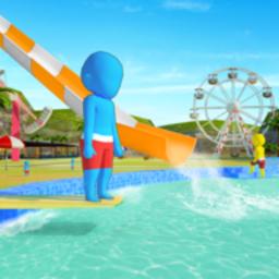 水上樂園水上滑梯樂趣