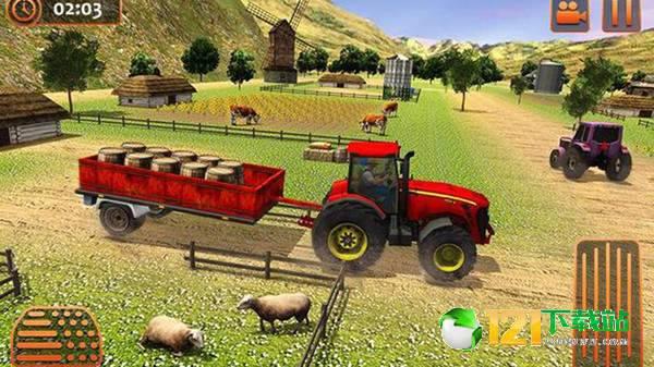 农业拖拉机驾驶模拟图1