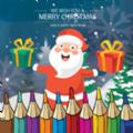 圣诞老人涂色书