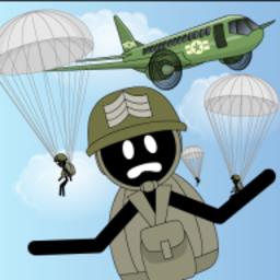 跳伞火柴人