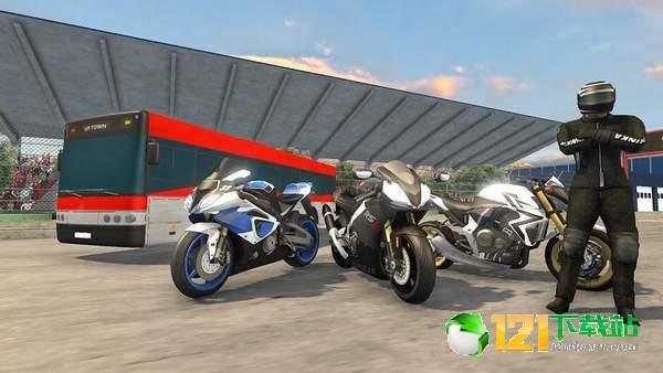 摩托车VS巨型客车图1
