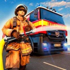 消防队员救主面包车英雄