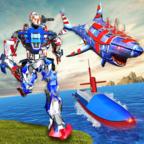 机器人鲨鱼潜艇变形