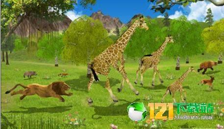 长颈鹿家庭生活丛林模拟器图1
