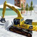 重型越野雪挖掘机驾驶模拟器3D