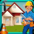 孩子们建筑工人