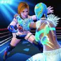 女子摔跤竞技格斗